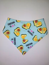 Load image into Gallery viewer, I love to cuddle avocado Snap-on Pet Bandana
