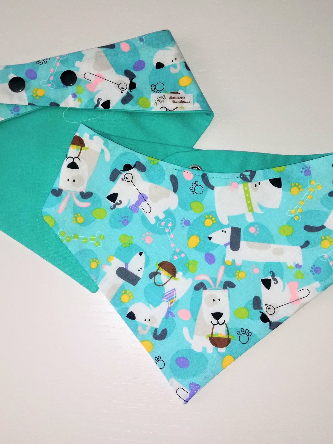Easter Bunny Pup Snap-on Pet Bandana