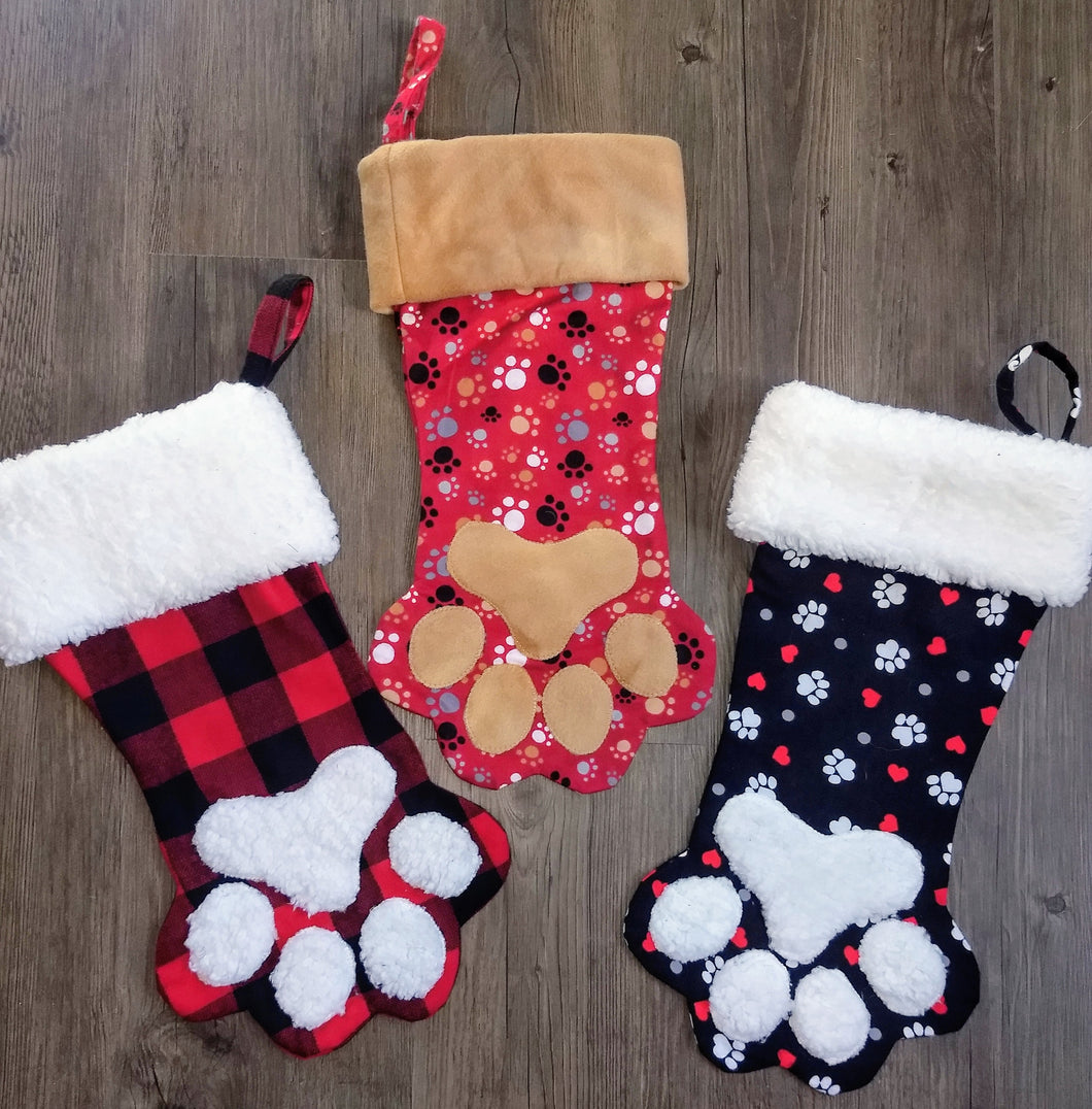 Customizable Paw Stocking