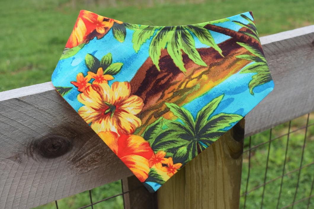 Hawaiian Shirt Snap-on Pet Bandana