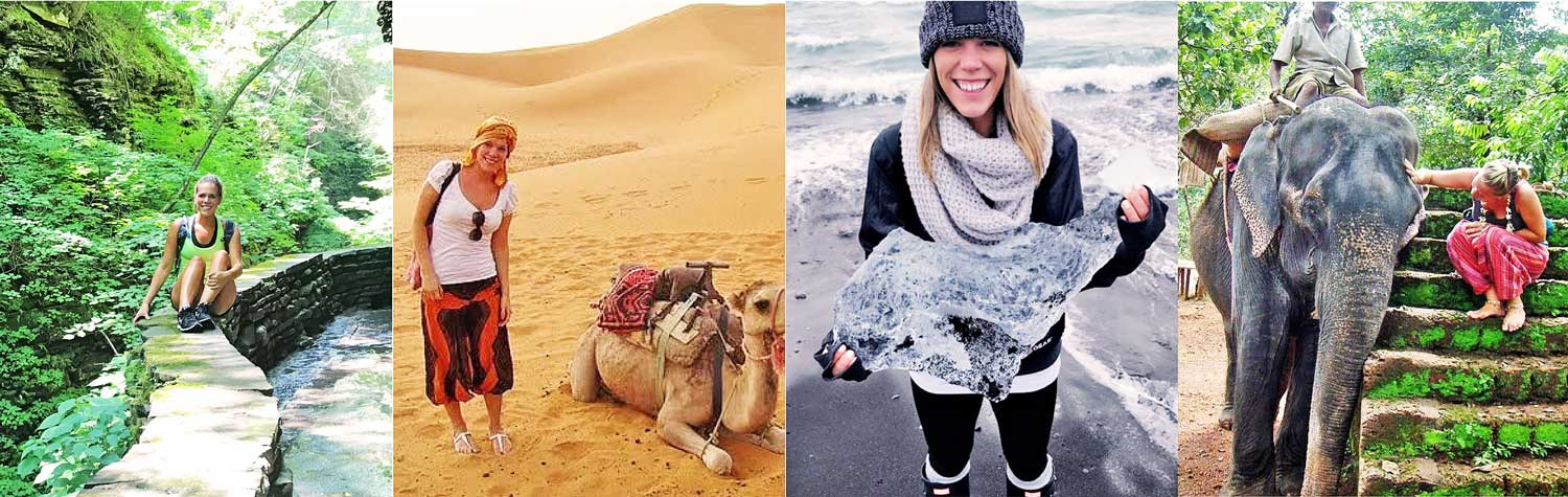 About busyXploring Founder Audrey Rattay - Girl hiking, biking, international travel, study abroad, nature busy exploring