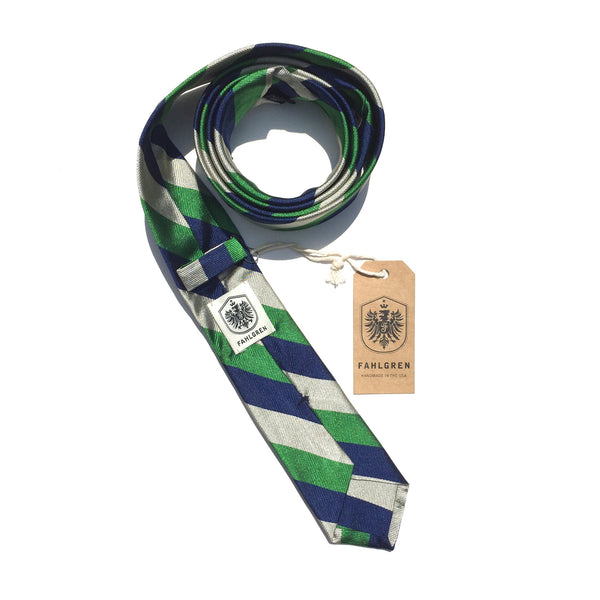 Narrow Stripe - Green/Blue/White