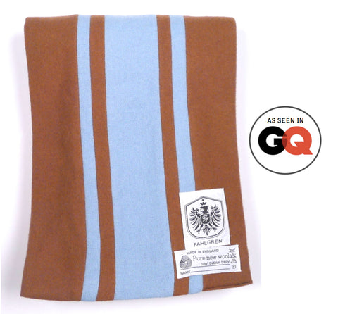 University Scarf - Brown/Sky