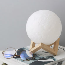 Load image into Gallery viewer, LED Night Light 3D Printing Moon Lamp Lunar Light Touch Control USB Charging Light