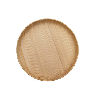 Round Wooden, Eco-friendly Dinner Plates