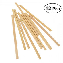 Load image into Gallery viewer, 12pcs Bamboo Drinking Straws Eco-Friendly Natural Straw Cocktail Drink Straw (Random Color)