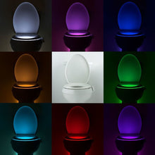 Load image into Gallery viewer, Automatic Motion Sensor Toilet Seat LED Light - 8 Colours  3*AAA
