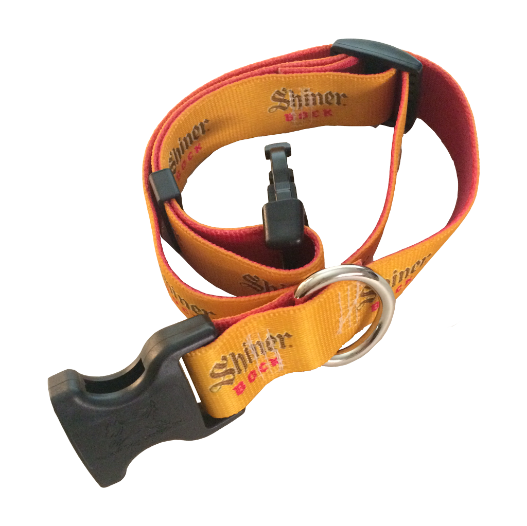 Shiner Bock Dog Collar