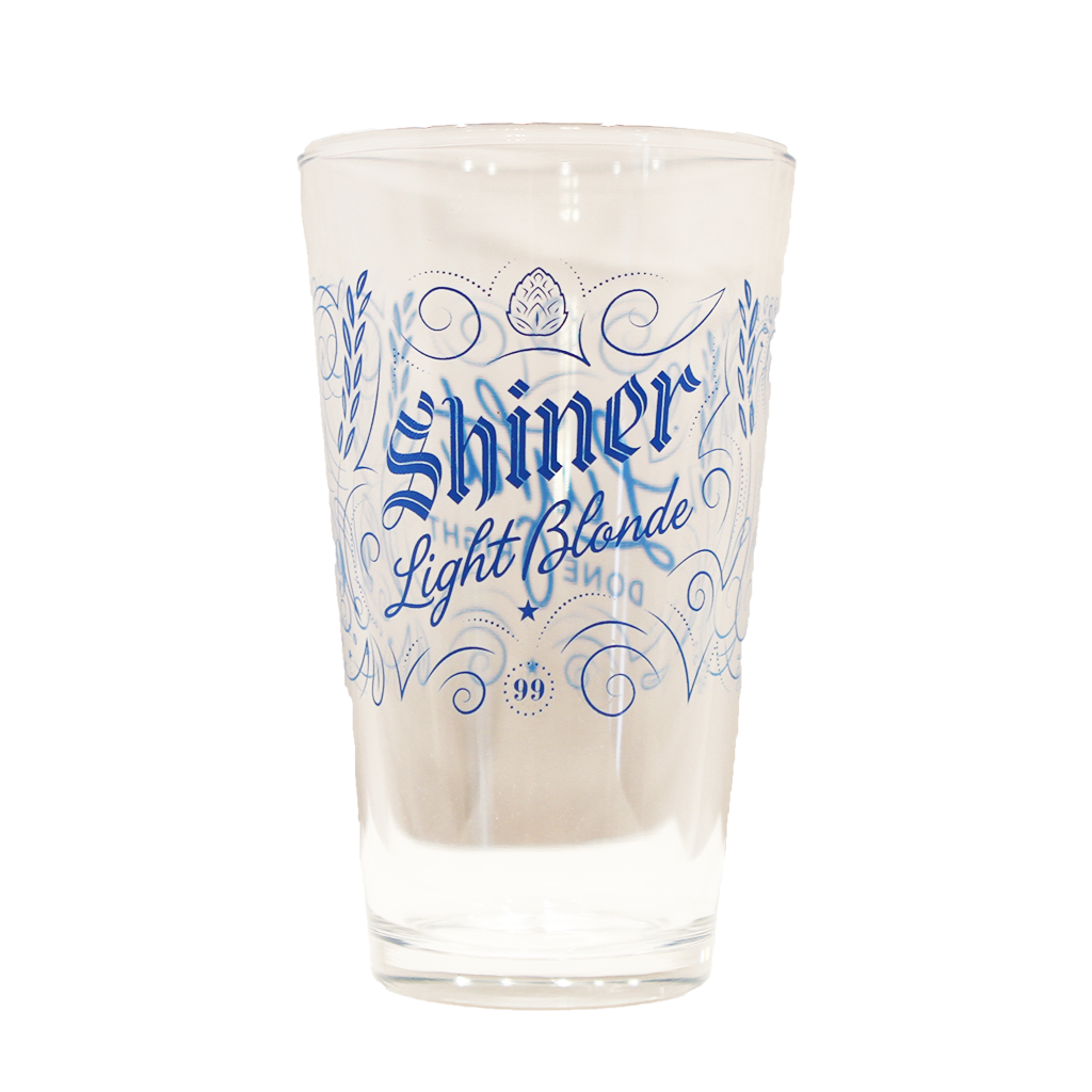 Shiner Light Blonde Pint Glass