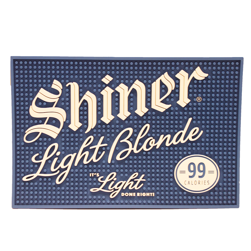 Shiner Light Blonde Bar Mat 12 x 18