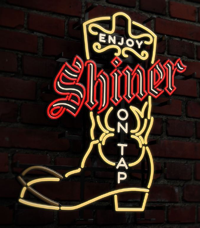 Shiner on Tap LED Sign