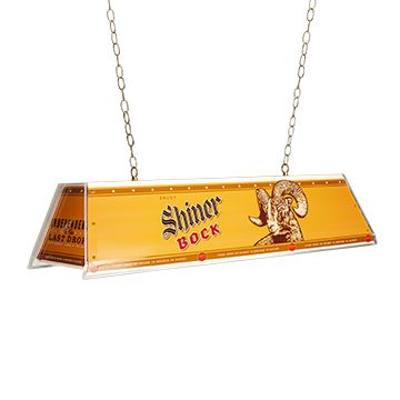 Shiner Bock Pool Table Light