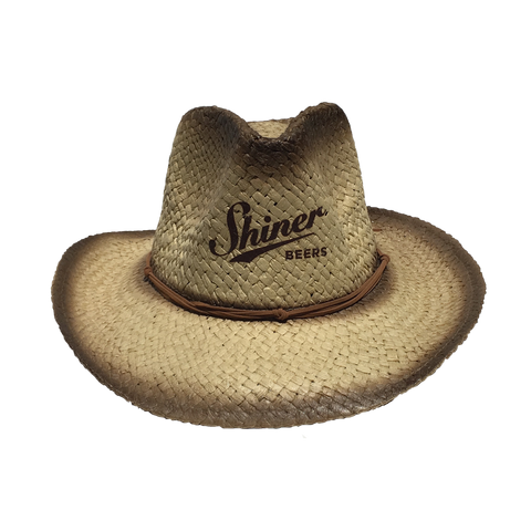 Shiner Beers Straw Cowboy Hat