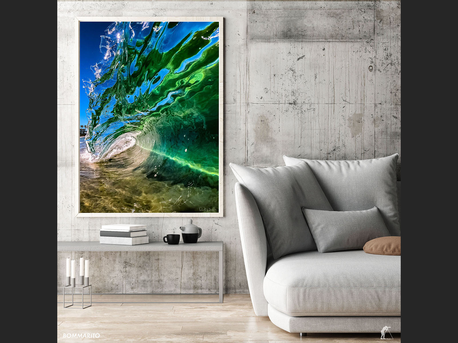 Green Sea Glass - Living Room