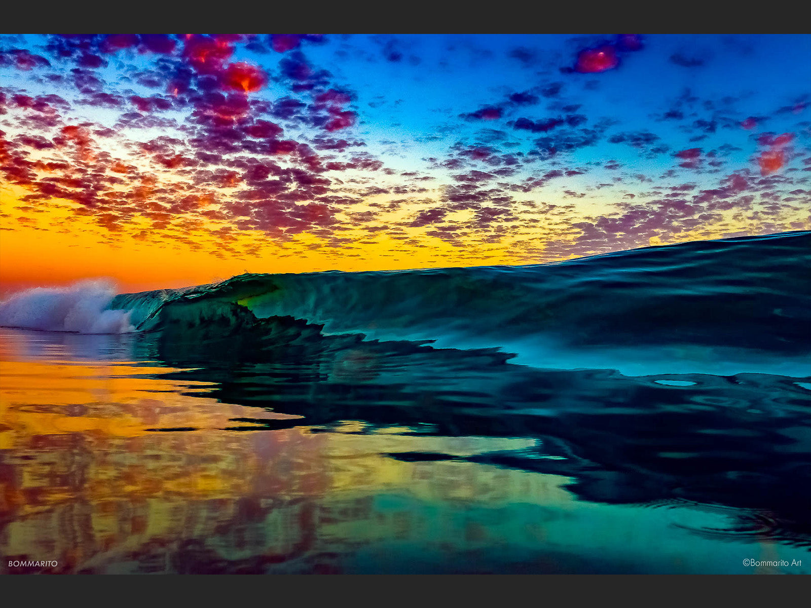 Paint Splash Sunset