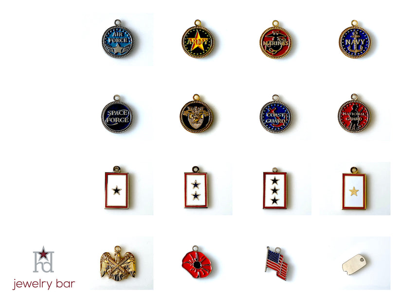 Military Branch Charms