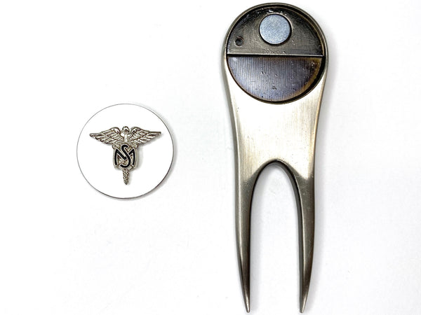 Medical Service Corps Golf Divot Tool and Ball Marker