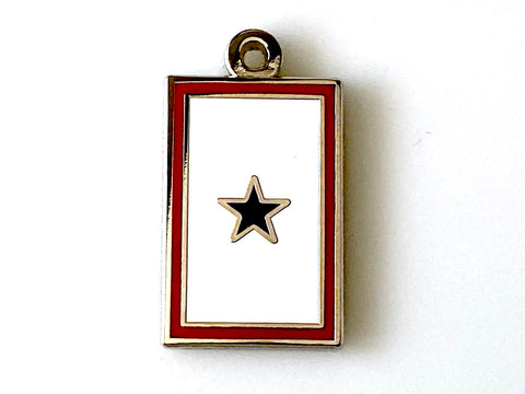 1 Blue Star Service Flag Charm