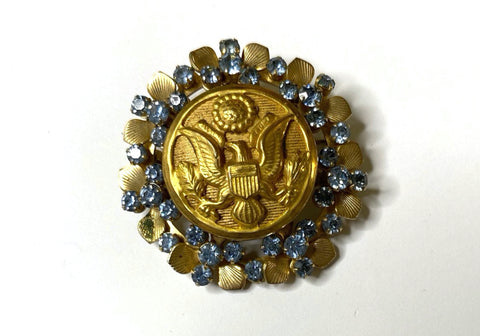WWII United States Army Button Button Brooch BR376
