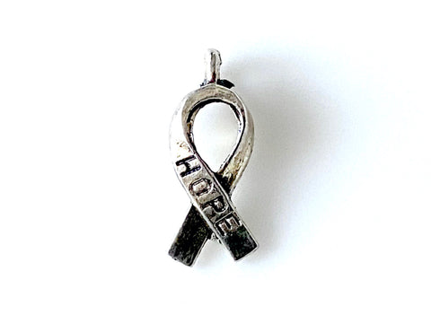 Hope Ribbon Pewter Charm