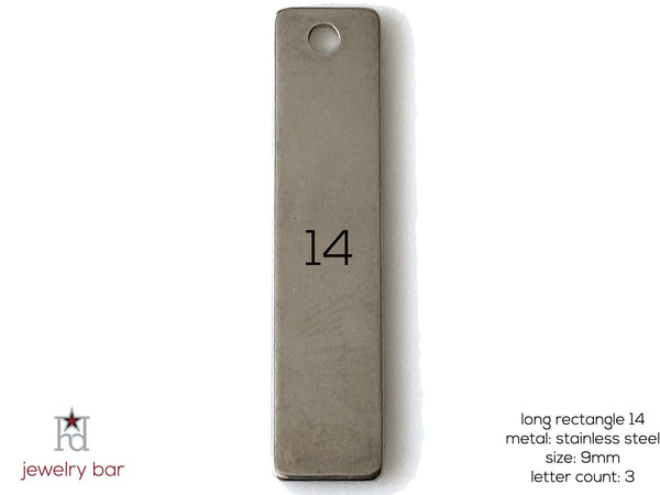 Long Rectangle 40mm - Metal Blank 14