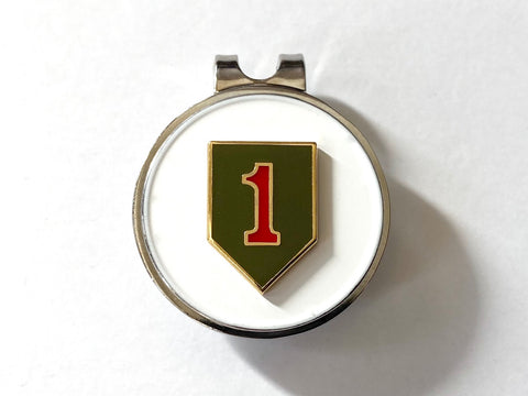 1st Infantry Division Golf Hat Clip and Ball Marker