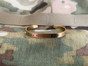 It Doesn't Get Easier You Just Get Stronger Hand-stamped Cuff Bracelet