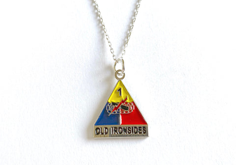 1st Armored Division Charm Necklace