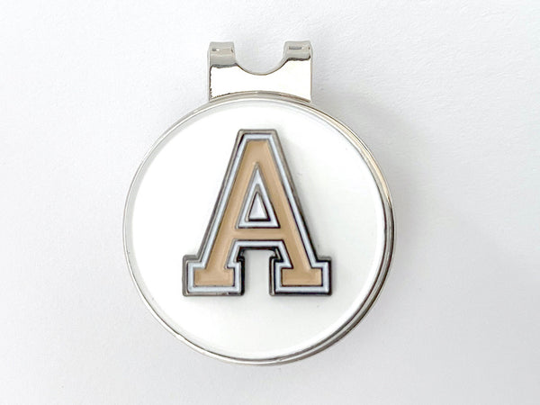 "USMA Tan ""A"" Golf Hat Clip and Ball Marker"