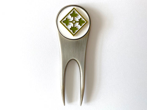 4th Infantry Division Golf Divot Tool and Ball Marker
