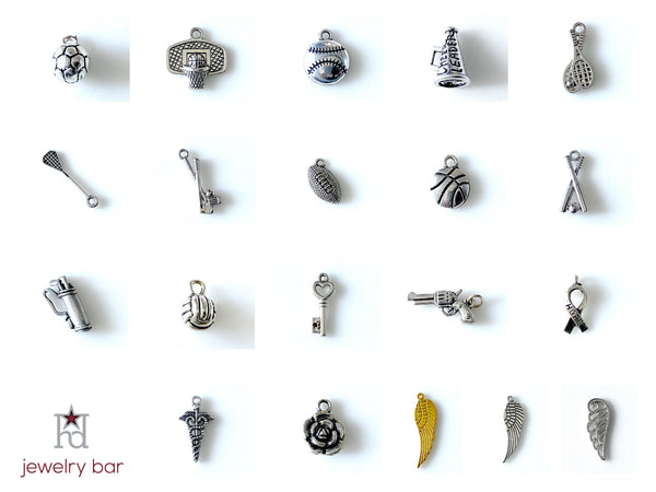 Golf Clubs Pewter Charm