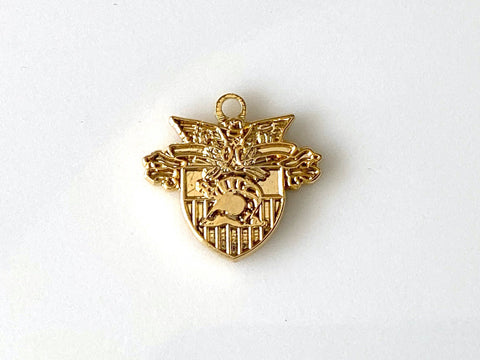 USMA Small Crest Gold Charm