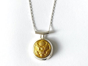 Limited Edition Army Button Necklace