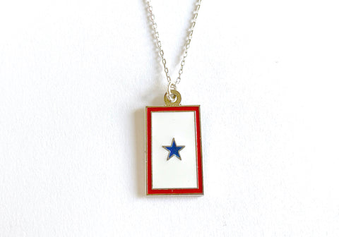 Blue Star (1 Star) Charm Necklace