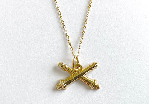 Field Artillery Charm Necklace