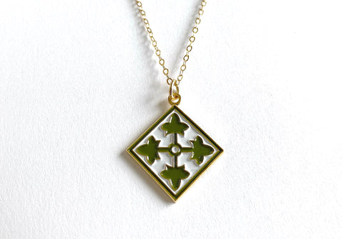 4th Infantry Division Charm Necklace