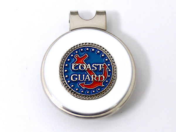 Coast Guard Golf Hat Clip and Ball Marker