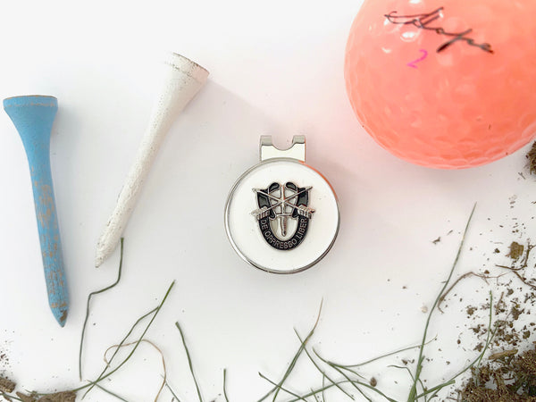 Special Forces 'De Oppresso Liber' (DOL) Golf Hat Clip and Ball Marker