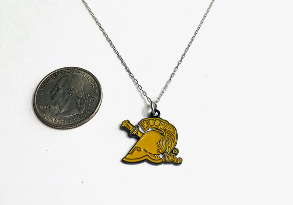 West Point Athena Gold Charm Necklace