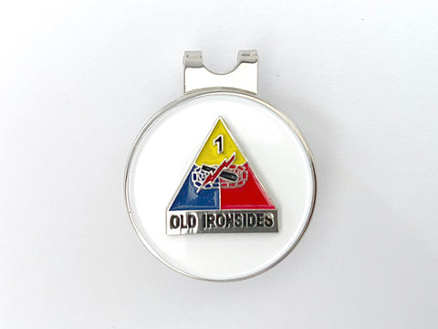 1st Armored Division Golf Hat Clip and Ball Marker