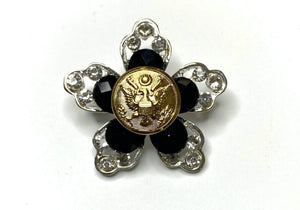 Army Button Limited Edition Brooch BR337