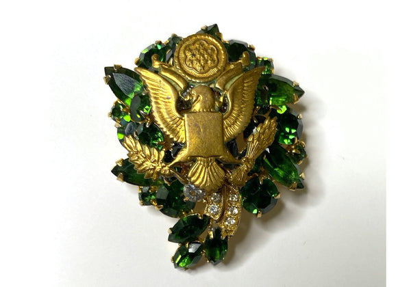 Patriotic Eagle Vintage One of a Kind Brooch BR386