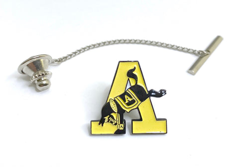 "USMA Army ""A"" Yellow Tie Tack"