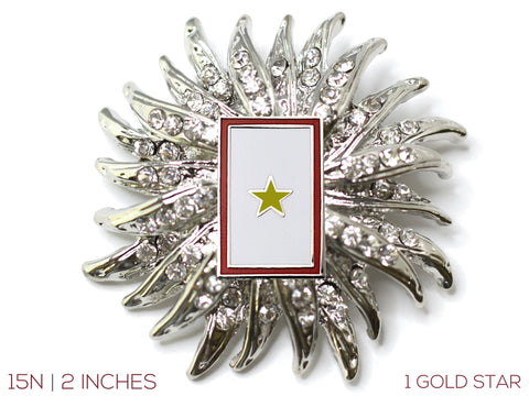 Gold Star Flag Brooch