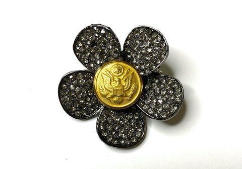 US Army Button Limited Edition Brooch BR354