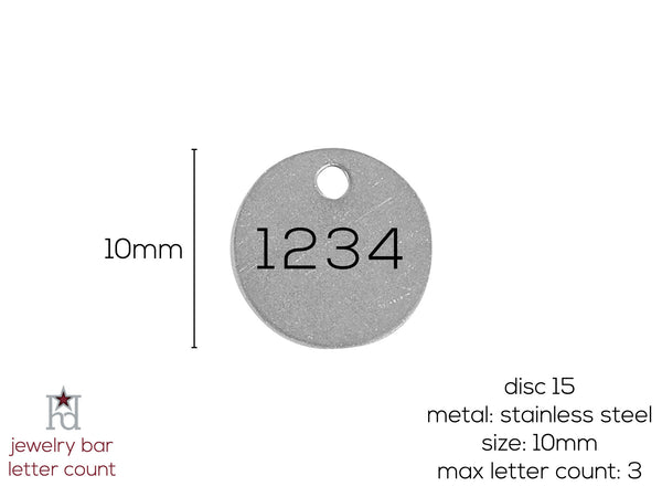 Round 10mm - Metal Disc 15