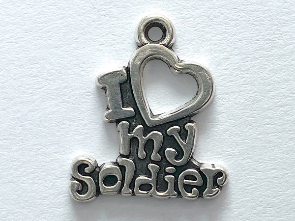 """I Love My Soldier"" Charm"
