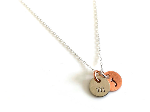 Initials Charm Necklace