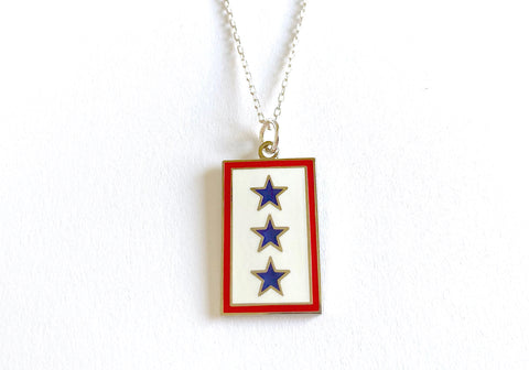 Blue Star (3 Star) Charm Necklace