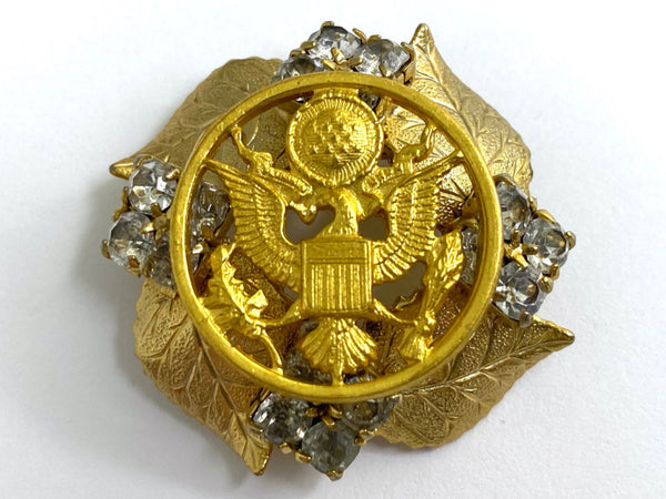 US Army Button Vintage Brooch BR408
